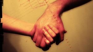 Team work - holding hands