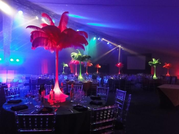 carnival decor tables
