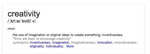 definition of creativity